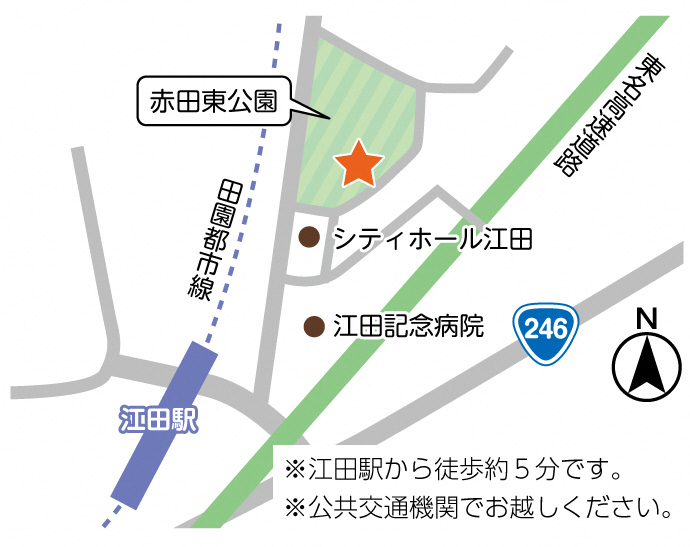 荏田コミュニティハウス地図