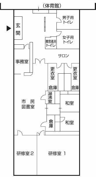 桂台コミュニティセンターのフロアマップ