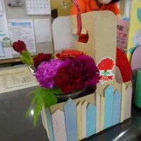 講座で作った花かご